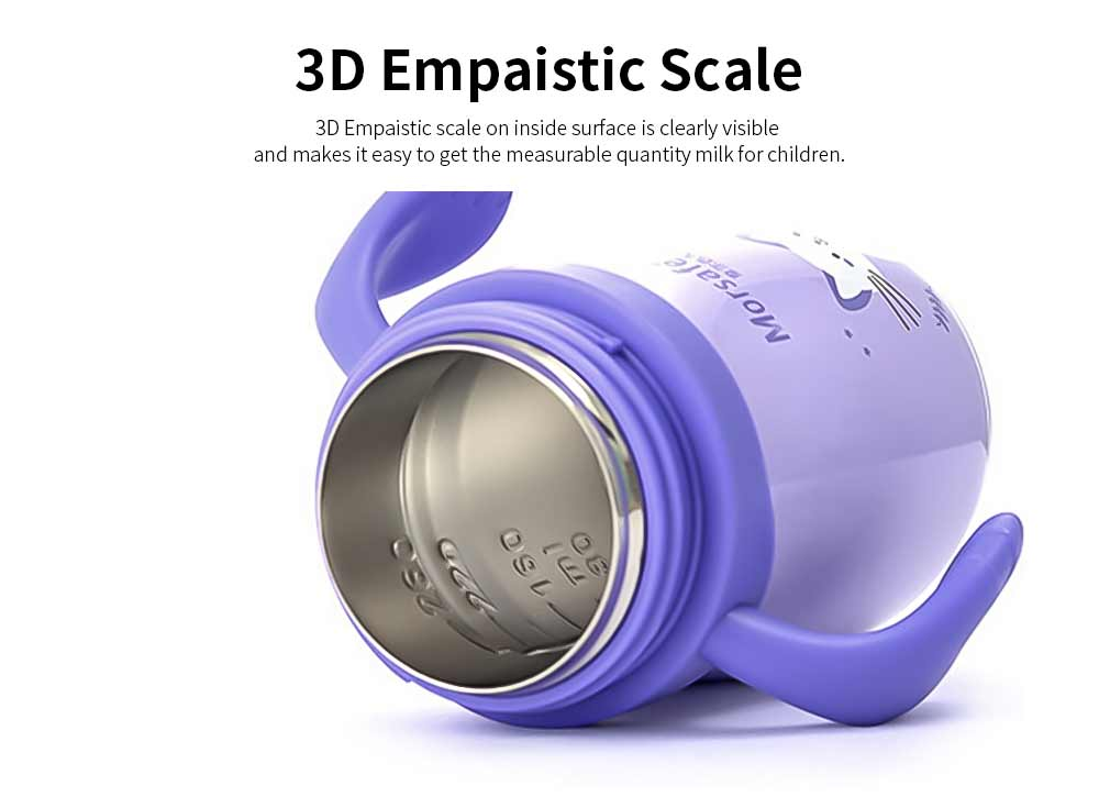 Vacuum Nursing Bottle for Children Feeding 260ml Dual Purpose Feeding Bottle, Stainless Steel Vacuum Cup Feeder Wholesale Nursery 2