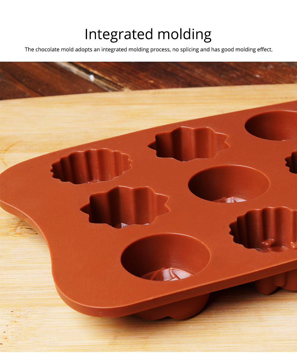 Chocolate Mold Creative Silicone Mould Candy Pudding Jelly Ice Grid Dessert Bake Mould Durable Easy Release 5