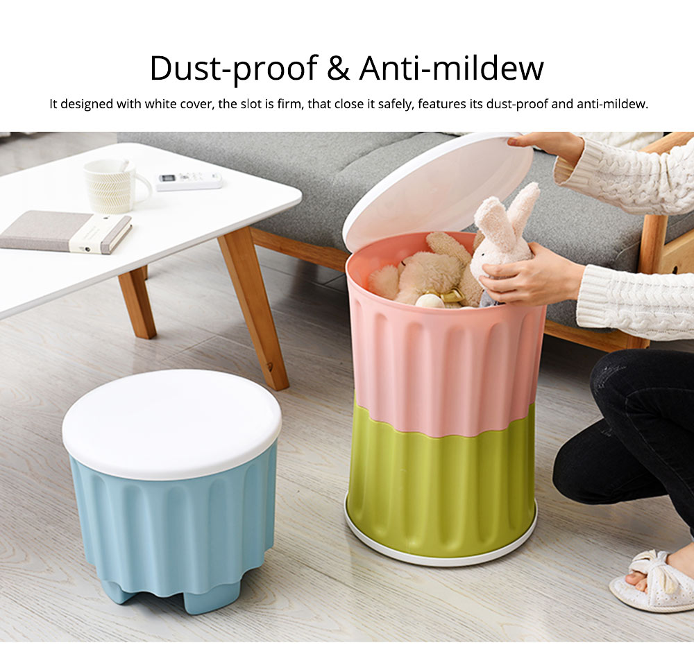 Large Capacity Container PP Material Box Multifunctional for Home Storage Stool 4