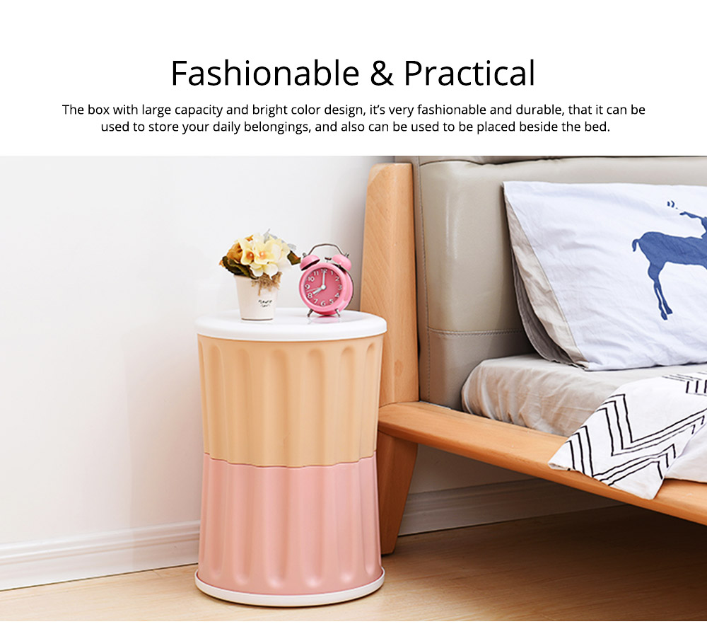 Large Capacity Container PP Material Box Multifunctional for Home Storage Stool 7