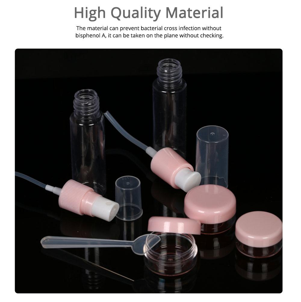 Travel Mini Plastic Transparent Empty Cosmetic Make Up Container Bottle Jar Lotion Cream Shampoo 6pcs/set 4
