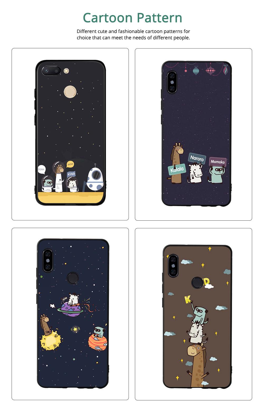 MI Phone Case for MI 8, MI 8 Explorer, MI 8 Lite, MI SE, MI 6X, Fingerprint-resistant Soft Silicone Phone Case Cover, Cartoon MI Protection Case 5