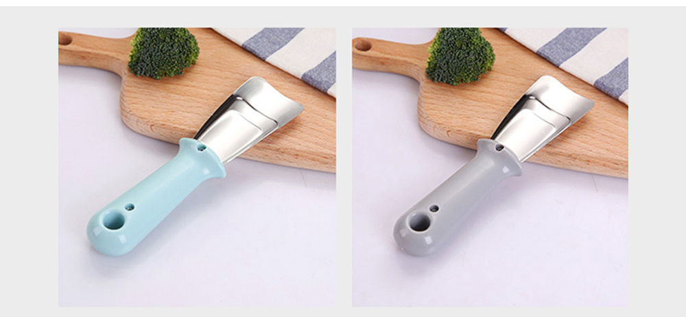 Ice Scraper Stainless Steel Refrigerator Ice Scoop Multifunctional Cutting Vegetable Kitchen Cleaning Tool 7