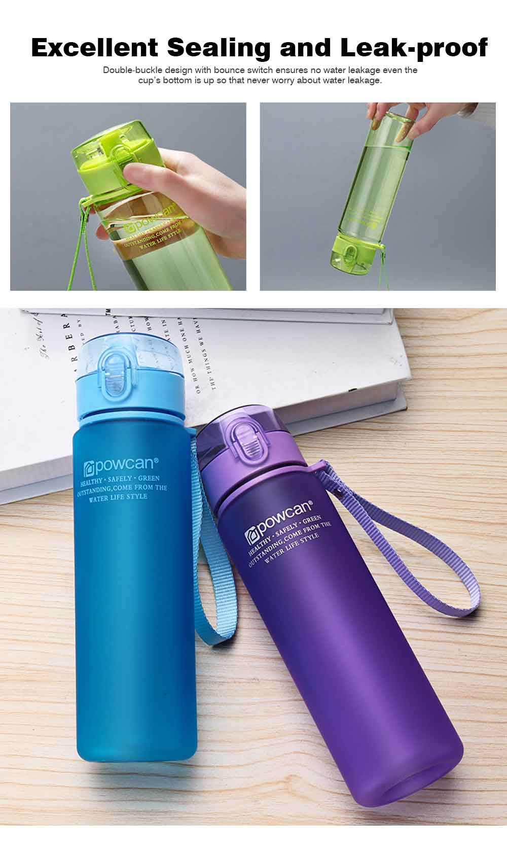 Portable Plastic Space Bottle of Sports Style for Summer, Creative Powcan Cup Children Cup for Students' Use PC Cups 10