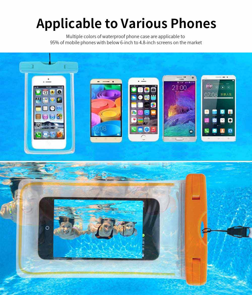 Diving Swimming Purpose Waterproof PVC Phone Case, High-end Transparent Phone Case for Outdoor Activities 5