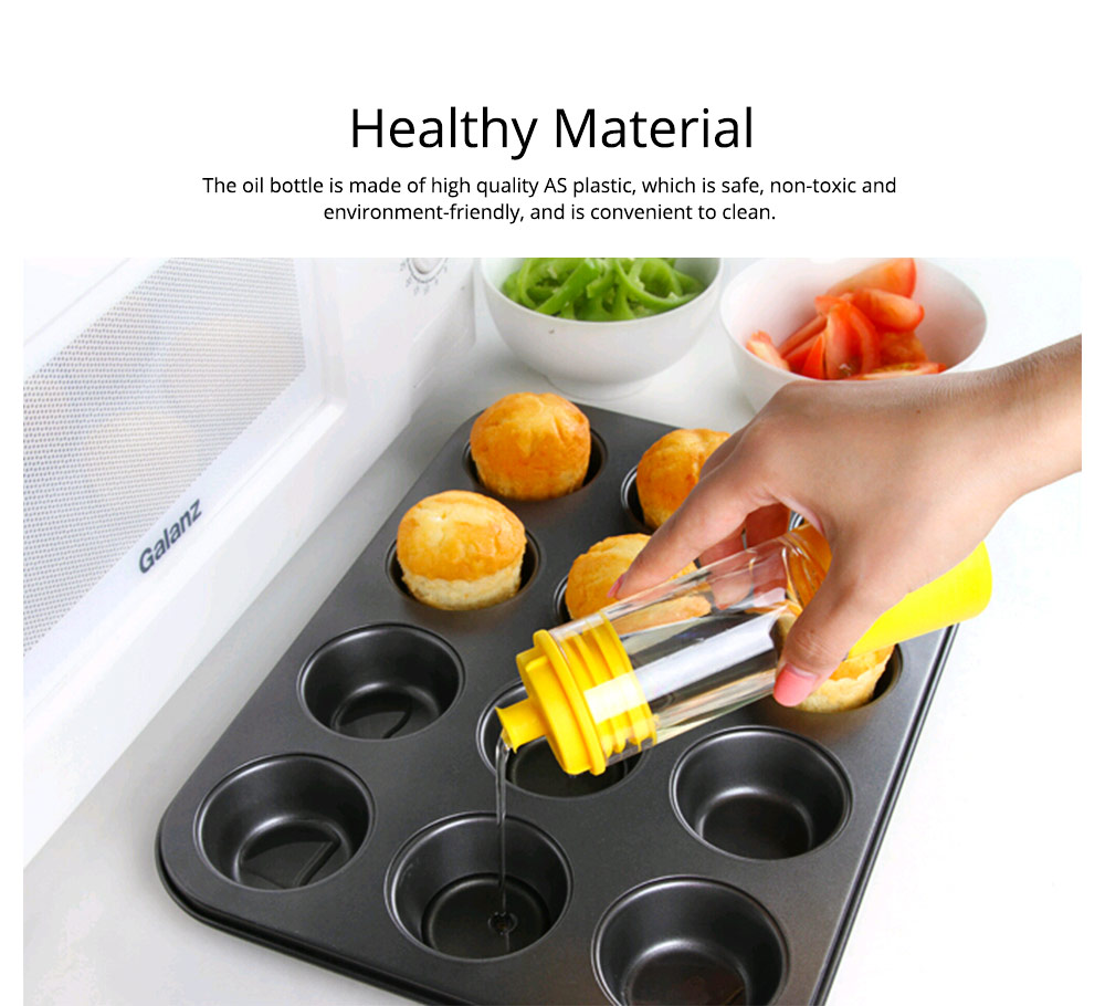 Silicone Oil Brush with Bottle Creative Household Supplies Kitchen Bake Tool High Temperature Resistance BBQ Brush 1