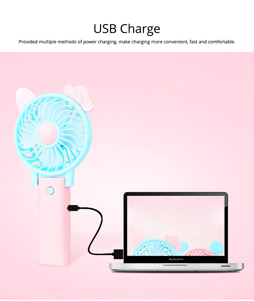 USB Handheld Mini Fan Rechargeable for Hot Day ABS Portable Folding Table Fan 2
