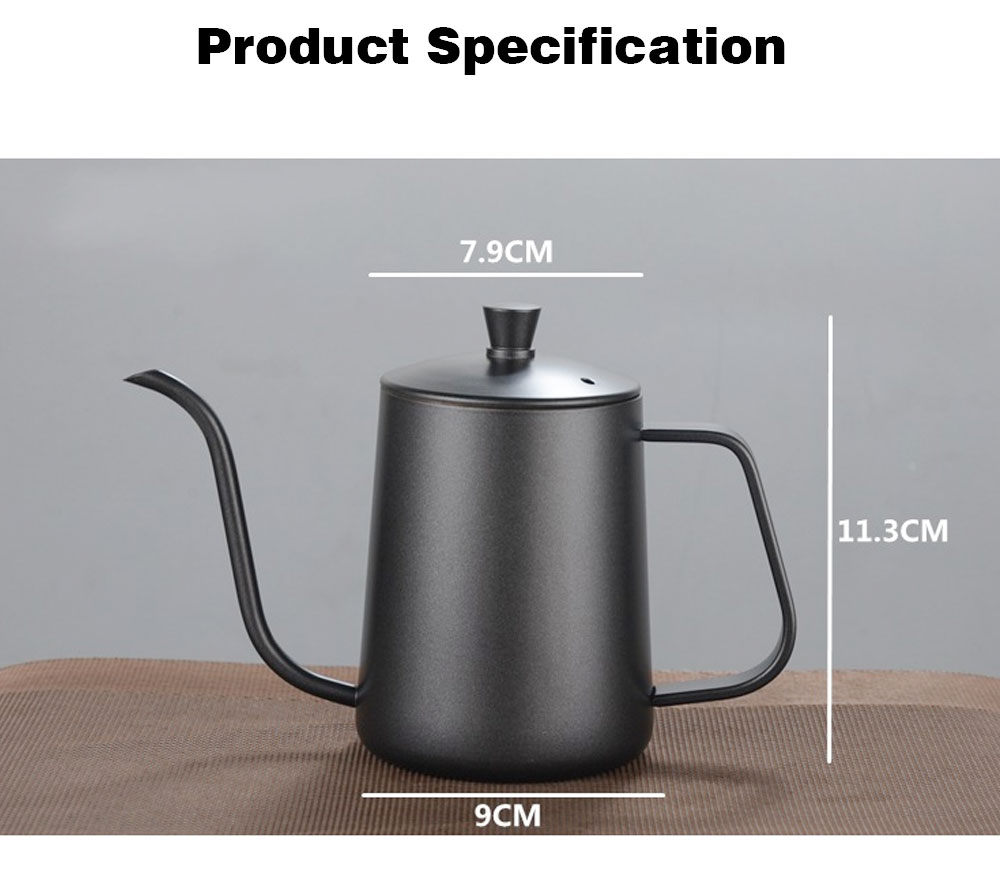 New-style Coffee Pot with Cover for 600ML Capacity Drip Coffee Maker Coffee Cup Teflon Hand Drip Coffee Urn 7