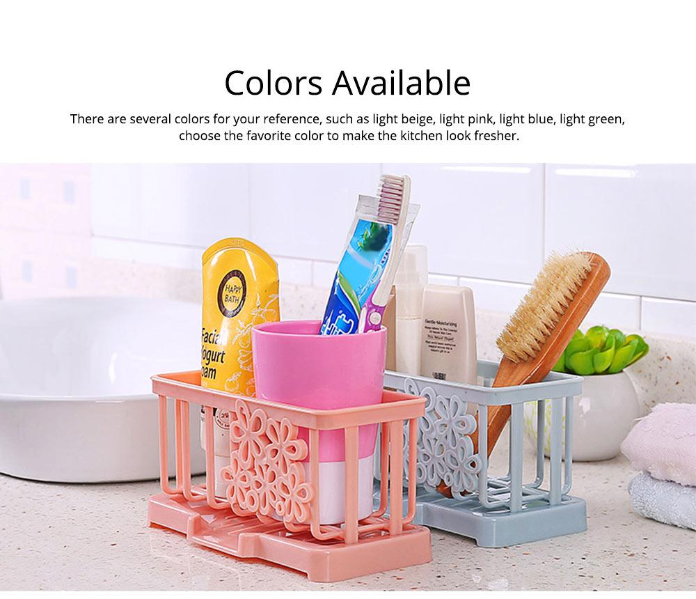 Storage Holder Durable Organizer Shelf for Kitchen Household Plastic Detachable Drying Rack 2