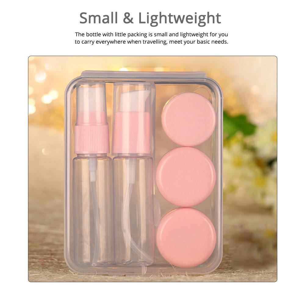 Travel Mini Plastic Transparent Empty Cosmetic Make Up Container Bottle Jar Lotion Cream Shampoo 6pcs/set 1