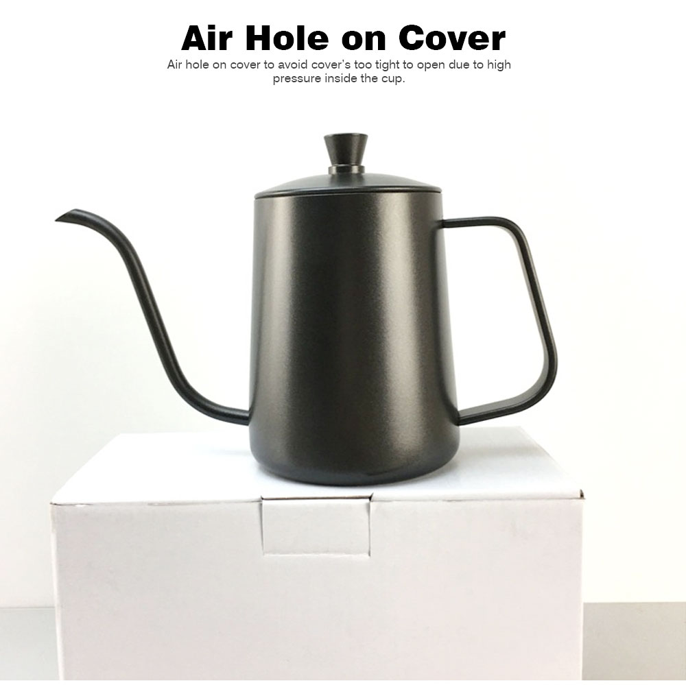 New-style Coffee Pot with Cover for 600ML Capacity Drip Coffee Maker Coffee Cup Teflon Hand Drip Coffee Urn 5