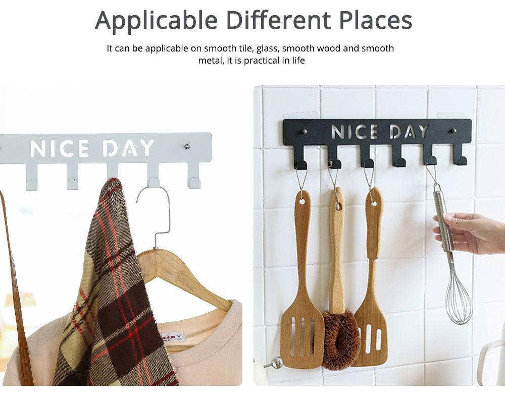 Hook and Bath Decorative Multi Back Door Over The Door Hanger, Cloth Hook Shelf Rack, Seamless Nail-free 4