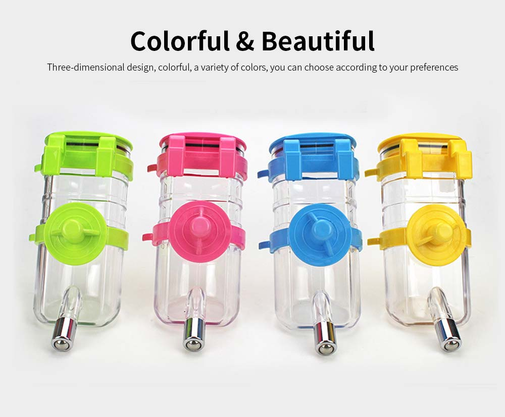Dog Cage Hanging Pet Drinking Fountain, Ball Dog Drinking Fountain, 350ml Pet Drinking Pot Supplies 2