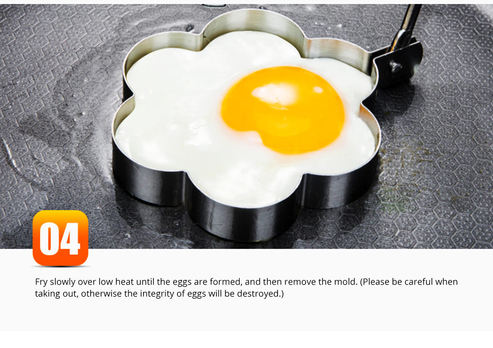 Omelette Model Stainless Steel Creative DIY Love Type Set Fired Egg Rice and Vegetable Roll Ring Non-stick With Handle Omelette 18