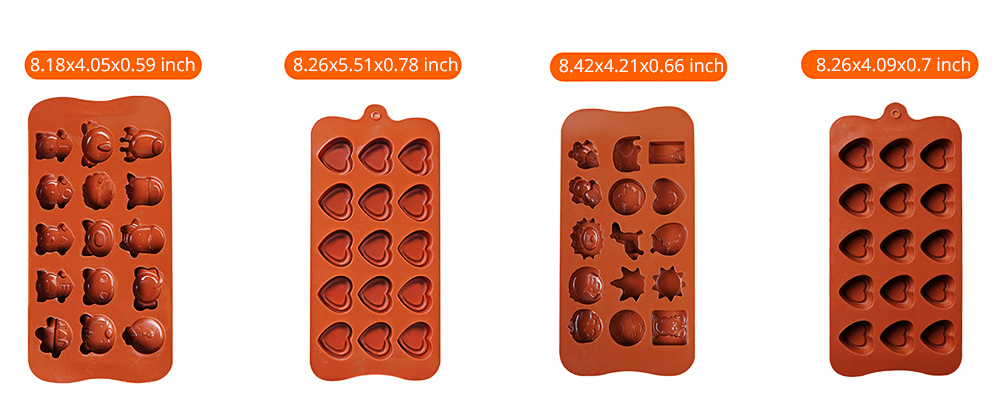 Chocolate Mold Creative Silicone Mould Candy Pudding Jelly Ice Grid Dessert Bake Mould Durable Easy Release 7