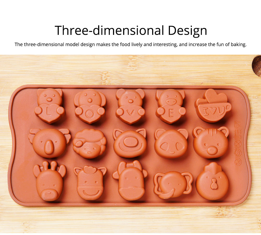 Chocolate Mold Creative Silicone Mould Candy Pudding Jelly Ice Grid Dessert Bake Mould Durable Easy Release 2