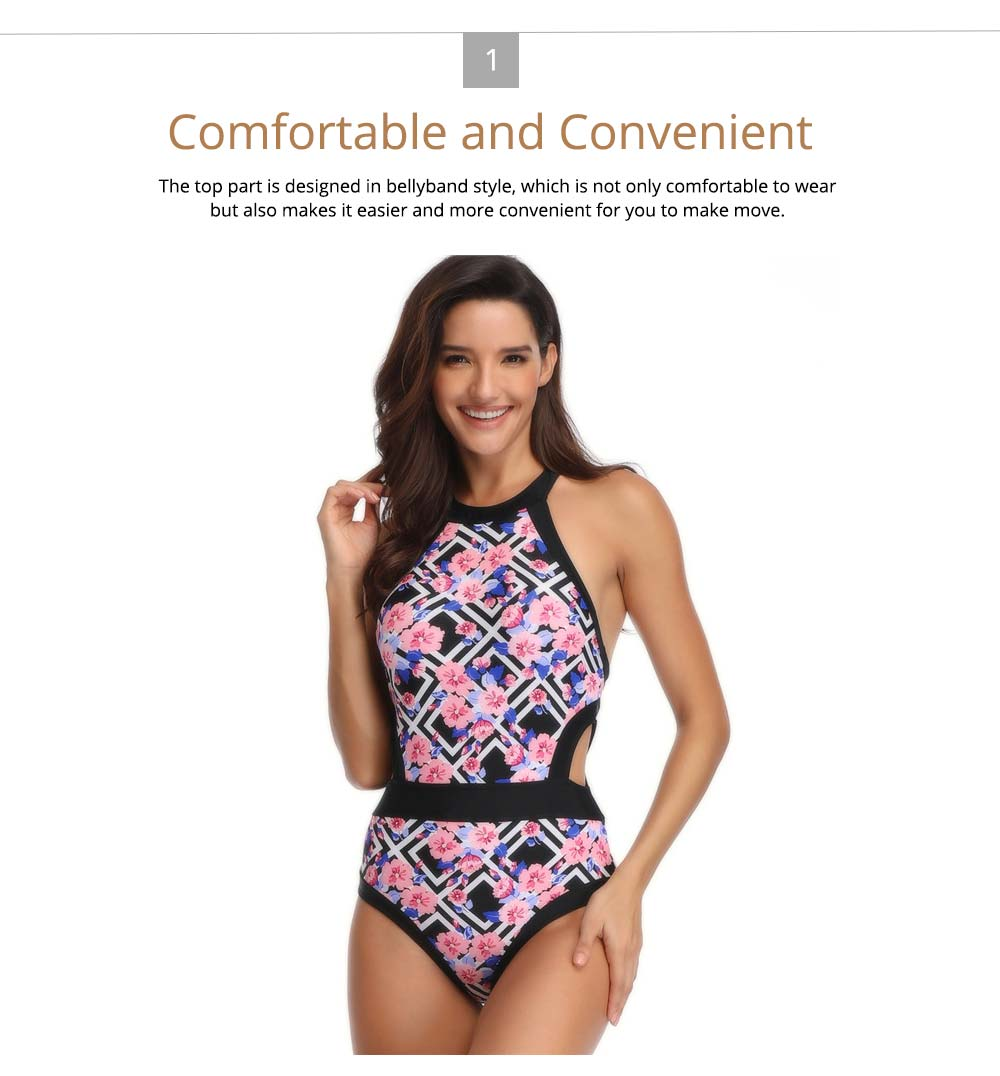 Parent-child Fashionable One-piece swimsuit, Family Matching Mommy and Me Floral Bikini Bathing Suits 1