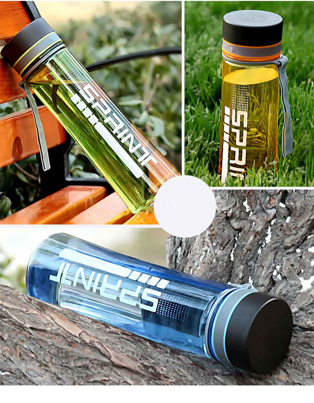 Portable Space Cup with Big Capacity for Students, 1000ml Sports Water Bottle for Outdoor Activities PC Cups 5