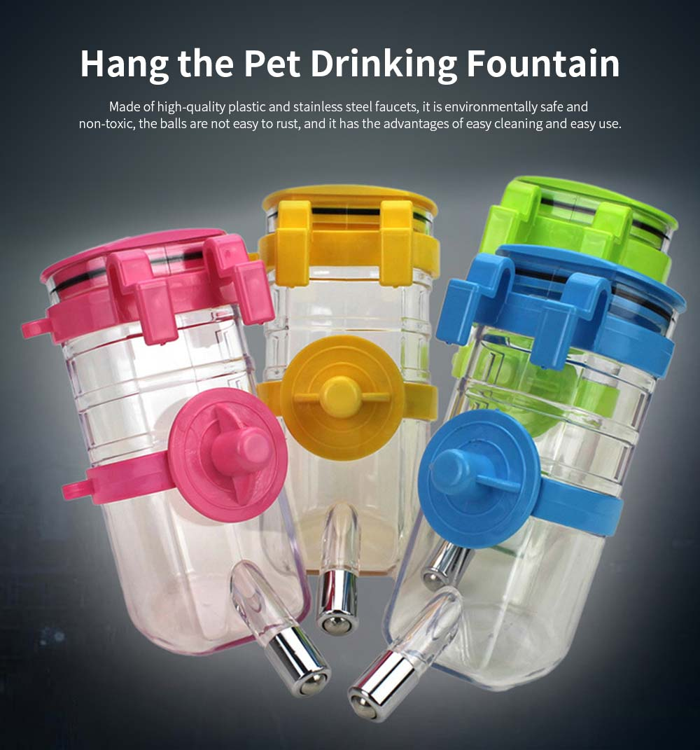 Dog Cage Hanging Pet Drinking Fountain, Ball Dog Drinking Fountain, 350ml Pet Drinking Pot Supplies 0