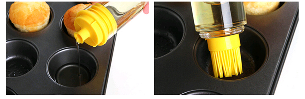 Silicone Oil Brush with Bottle Creative Household Supplies Kitchen Bake Tool High Temperature Resistance BBQ Brush 5