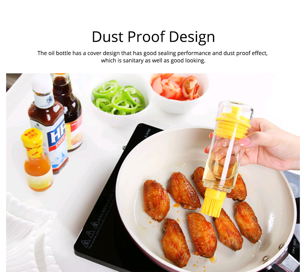 Silicone Oil Brush with Bottle Creative Household Supplies Kitchen Bake Tool High Temperature Resistance BBQ Brush 2