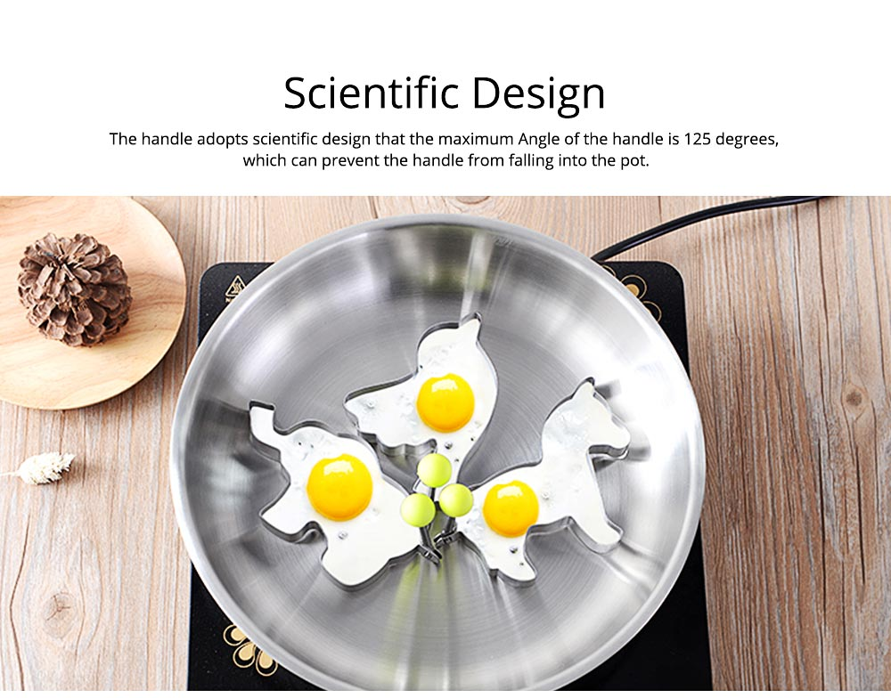 Fried Egg Ring Creative Cartoon Kitchen Tools Stainless Steel Omelette Model 4-piece Non-stick With Handle Omelette 7