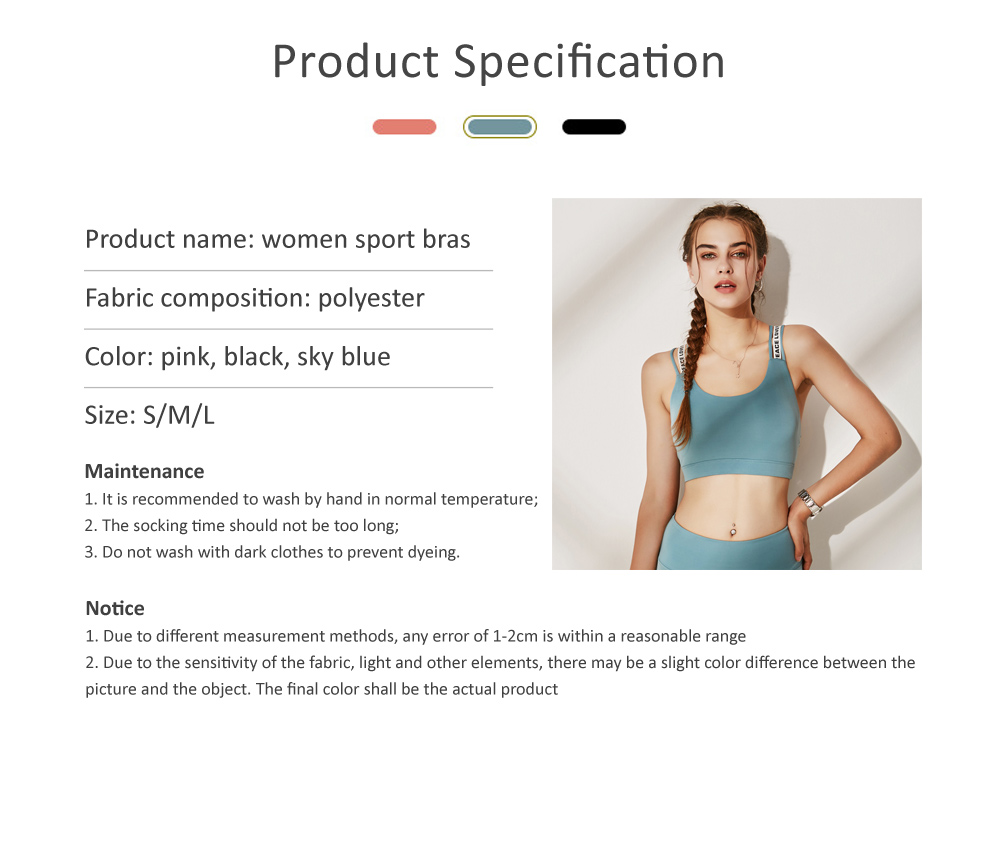 Quick-drying Shockproof Sports Underwear Female Vest Type Gather Training Sports Bra 5