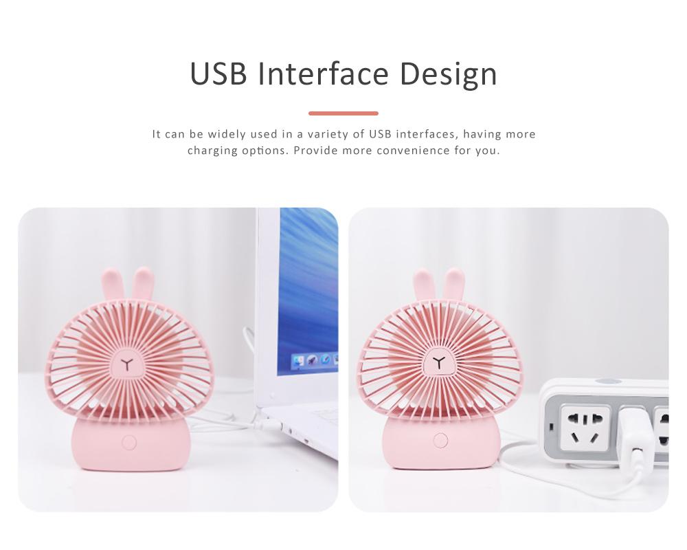 Cute Rechargeable Handheld Fan for Teenager Girls, USB Portable Handheld Mini Noiseless Fan, Desktop Mini Fan 4