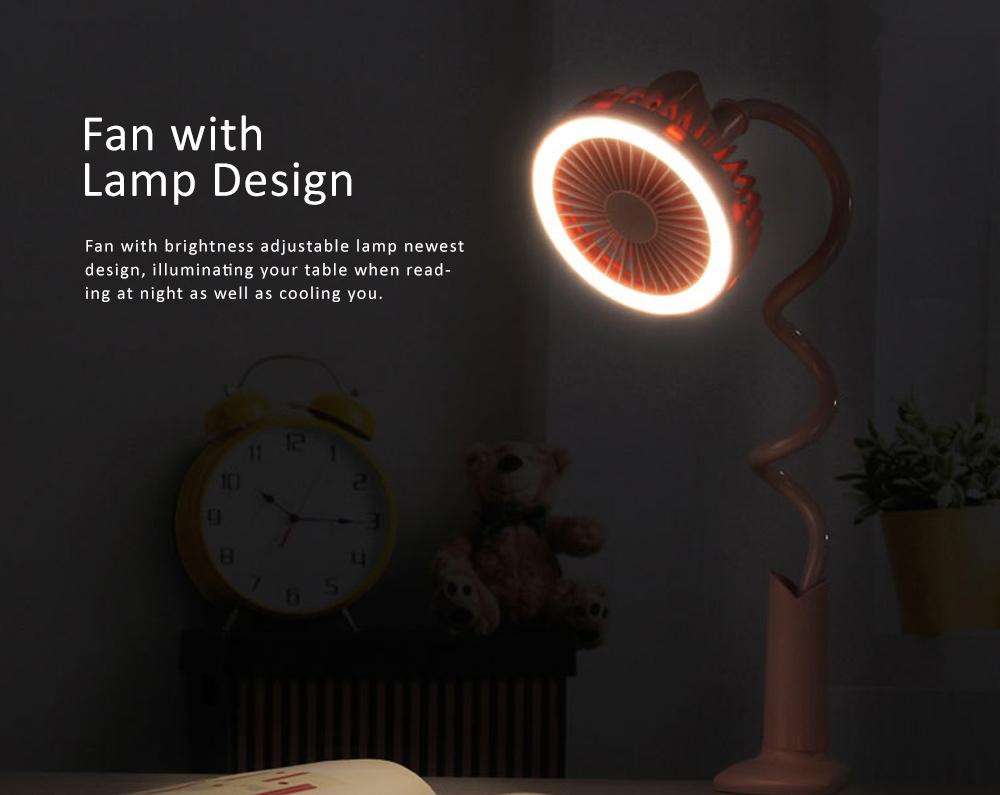 USB Mini Noiseless Clip Lamp Fan, Desktop Mini Clip Fan, Cute Flower Shape Fan for Students' Dormitory, Stroller 1