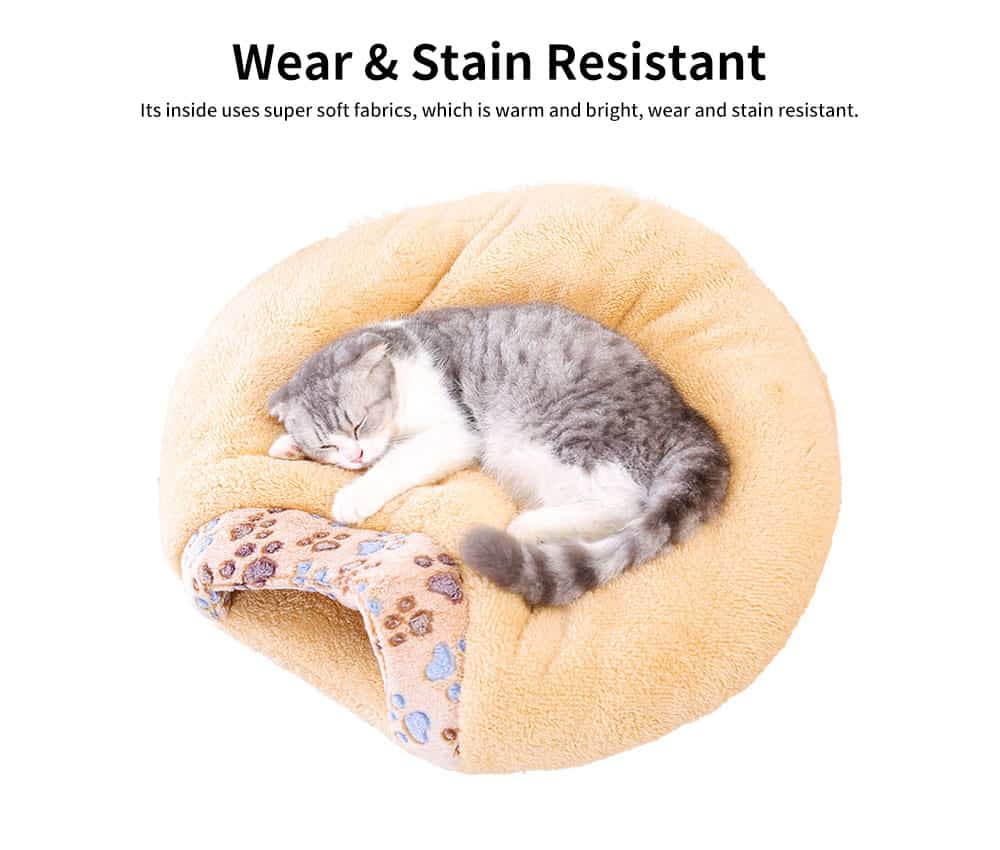 Super Soft Fabrics Cats House, Semi-enclosed Cat Nest with Anti-skid Drip Plastic on the Button 1