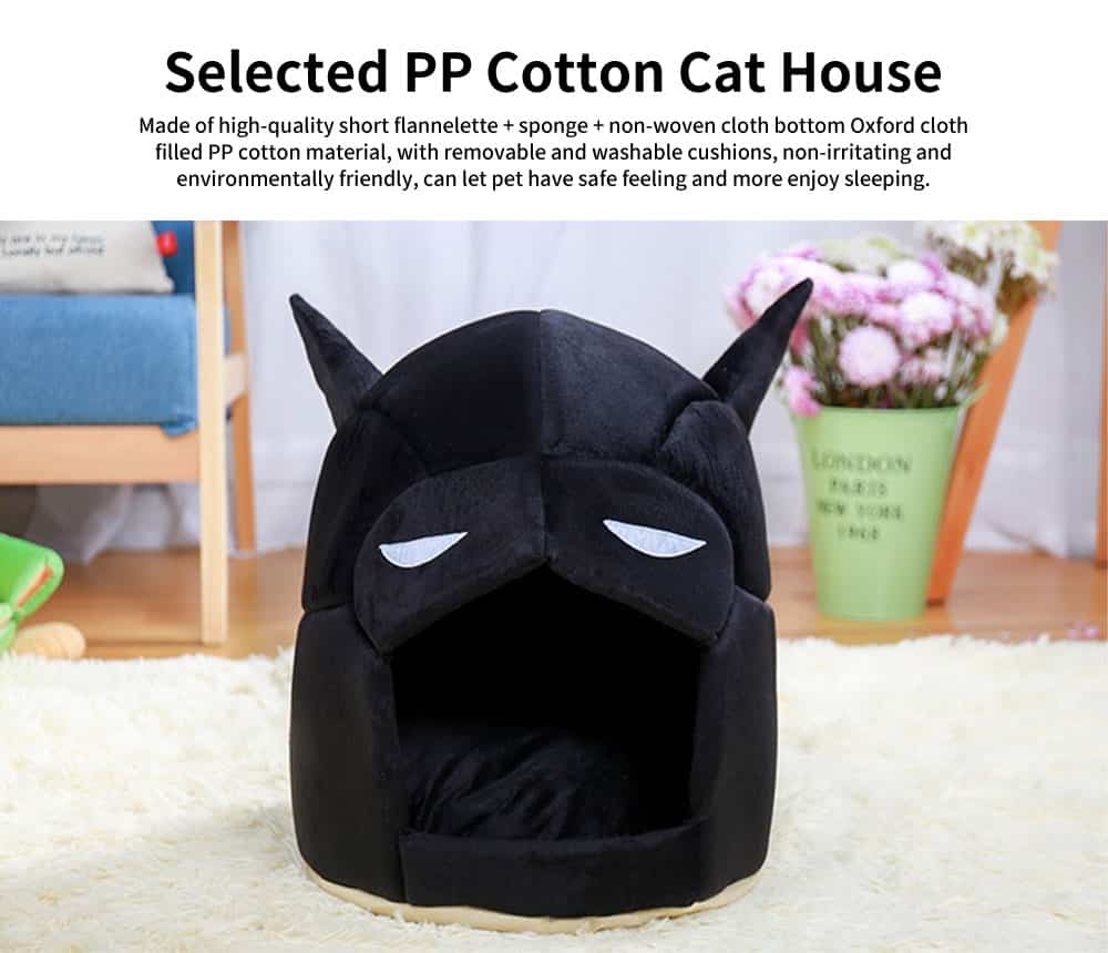 Classic Batman Modelling Cat Nest, with Removable and Washable Cushion, Selected PP Cotton Cat House 0