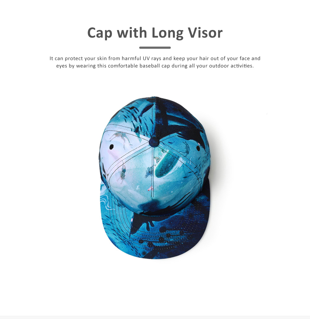 Men Baseball Cap, Adjustable Baseball Snapback Hat, Personality Father's Day Gifts 3D Picture Printed Cap 3