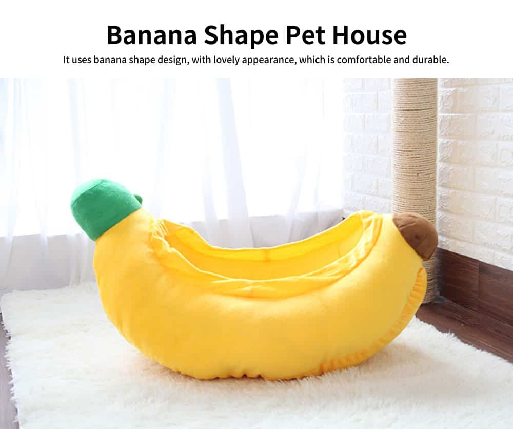 High-quality Xinjiang Cotton Cat Nest, Cute Banana Shape Pet House with Beautiful Curve 2