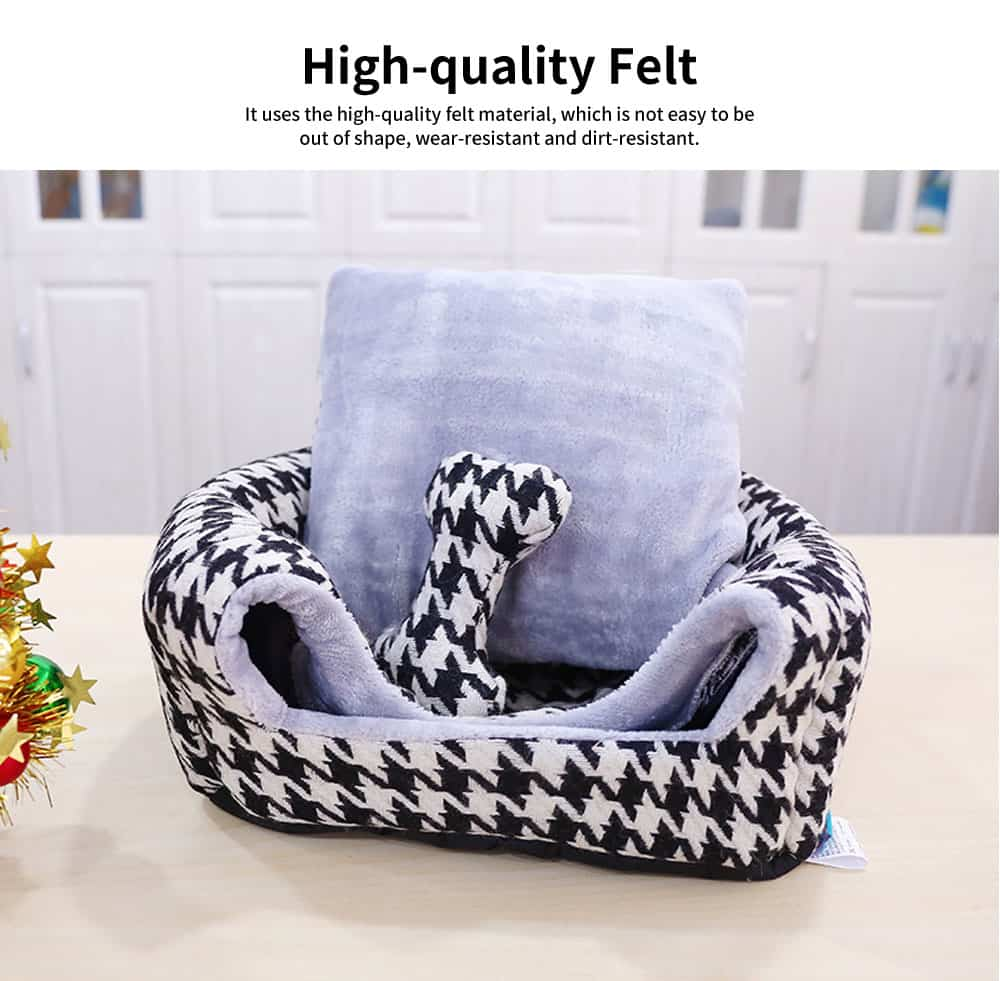 Semi-enclosed Sleeping Bag Design Cat Nest, High-quality Felt Pet Nest with Removable and Washable Cushion 3