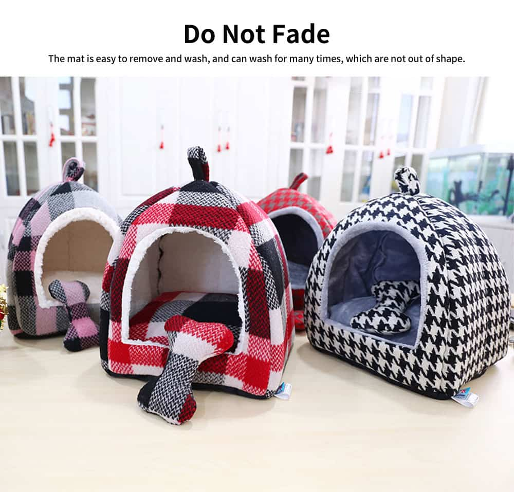 Semi-enclosed Sleeping Bag Design Cat Nest, High-quality Felt Pet Nest with Removable and Washable Cushion 2