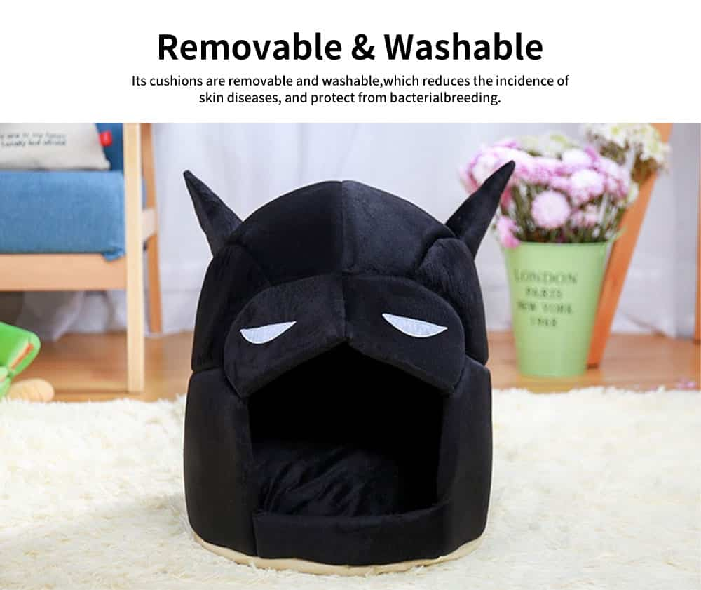 Classic Batman Modelling Cat Nest, with Removable and Washable Cushion, Selected PP Cotton Cat House 4