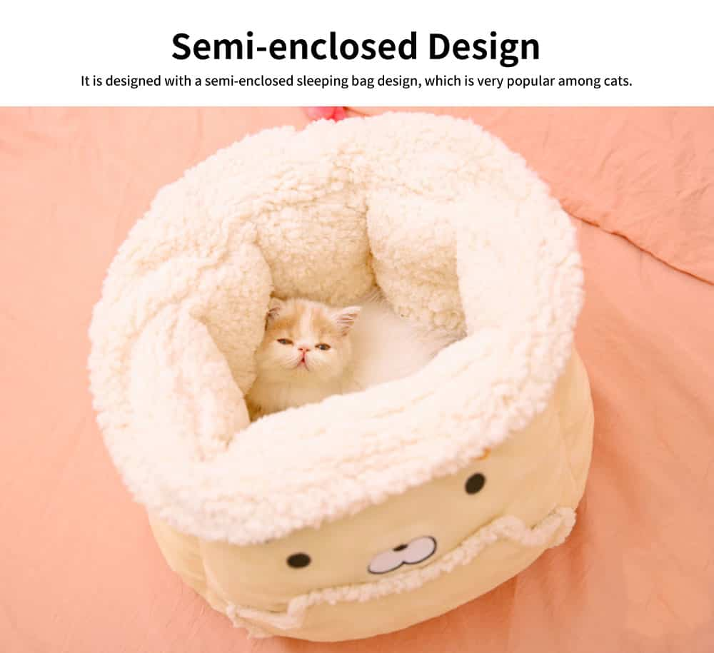 Close Skin Breathe Freely Cotton Cat Nest, Lovely Multifunctional Cat Litter, with Warm Handbag Design 4