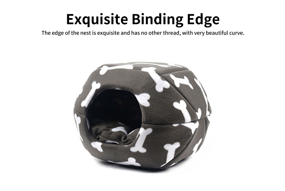 Lovely Stool Shape Pet Nest with Anti-skid Drip Plastic Design, High-quality Fleece & High-density Spong Cat Nest 4