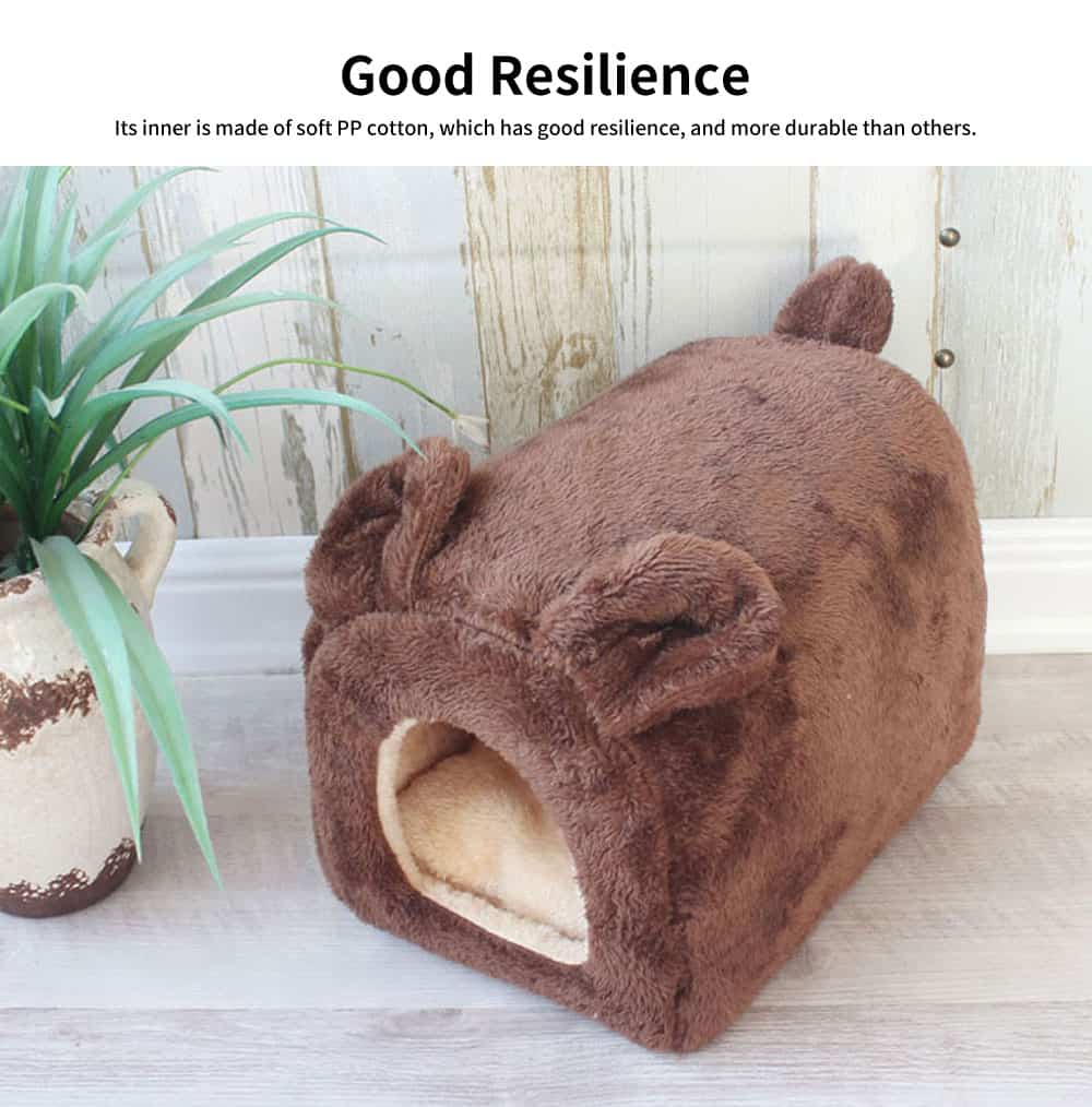 Lovely Semi-enclosed Cat Nest, Superior Flannelette Fabric Pet House with Good Resilience 2