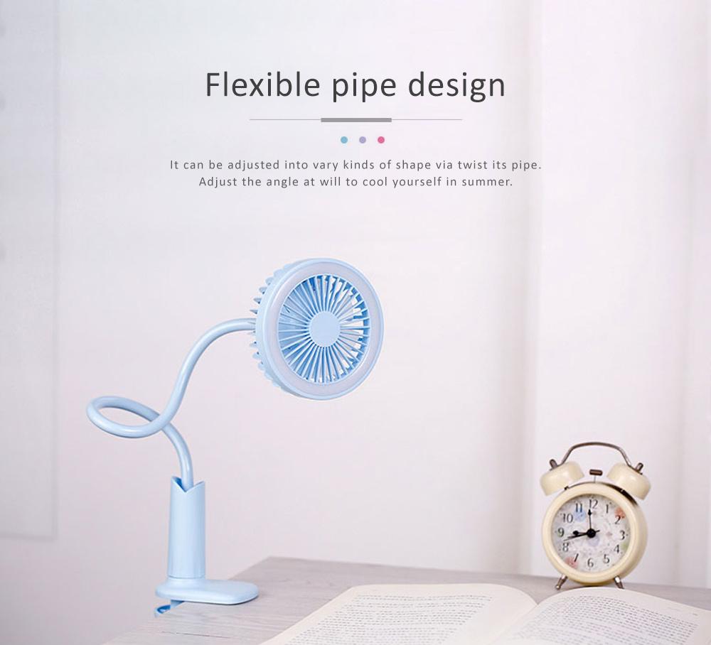 USB Mini Noiseless Clip Lamp Fan, Desktop Mini Clip Fan, Cute Flower Shape Fan for Students' Dormitory, Stroller 3