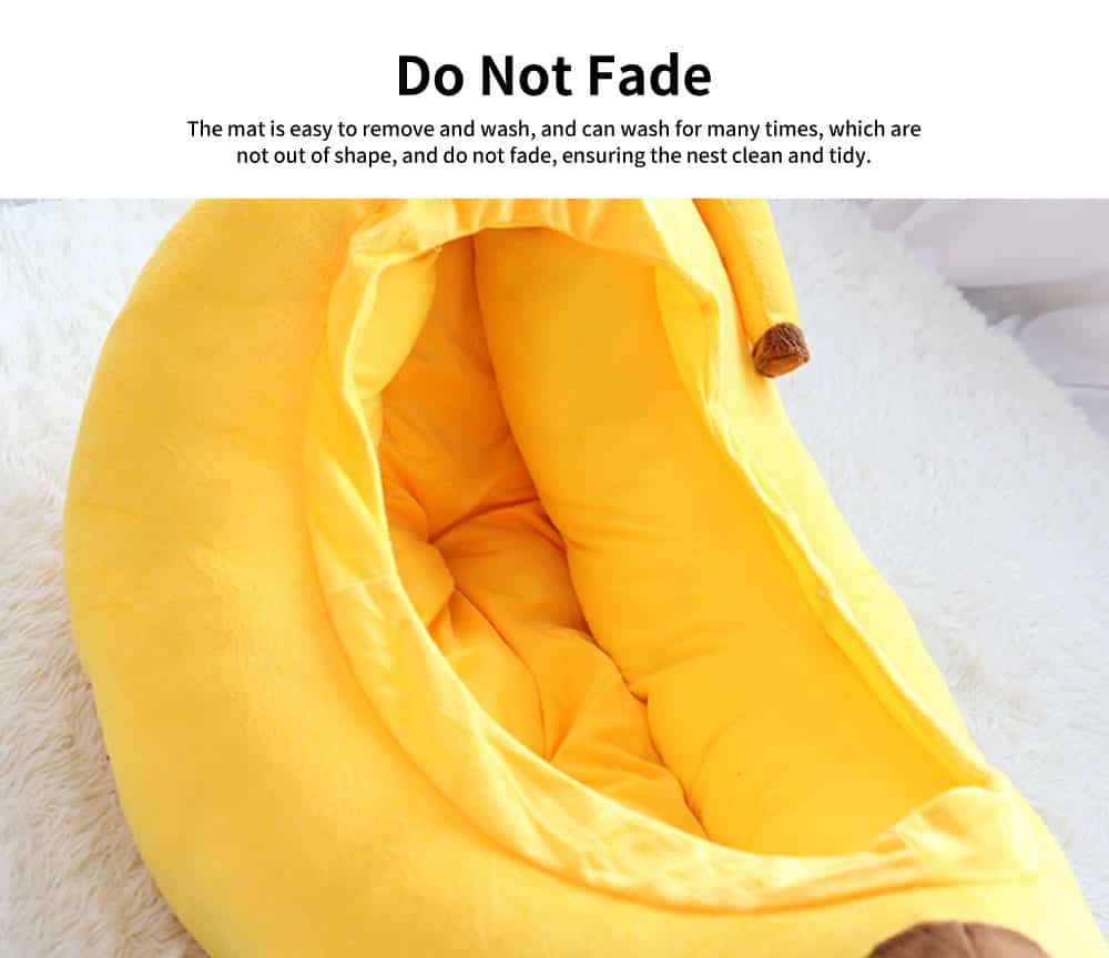 High-quality Xinjiang Cotton Cat Nest, Cute Banana Shape Pet House with Beautiful Curve 4