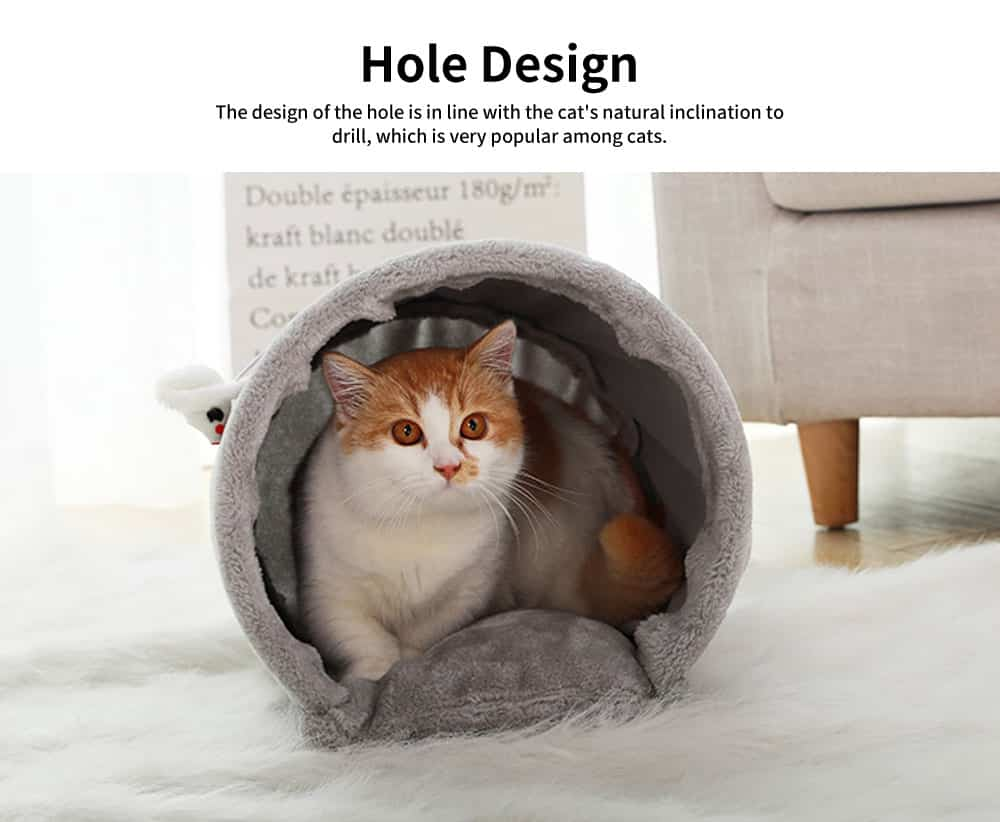 Grinding Claw Climbing Frame Small Cat Nest, with Funny Sisal Flax Scratchpad, Sisal Barrel Cat House 1