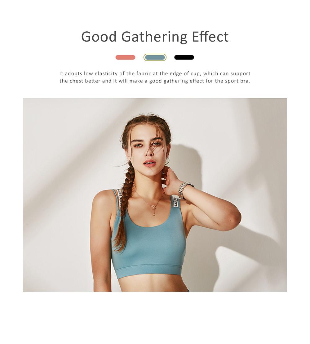 Quick-drying Shockproof Sports Underwear Female Vest Type Gather Training Sports Bra 2