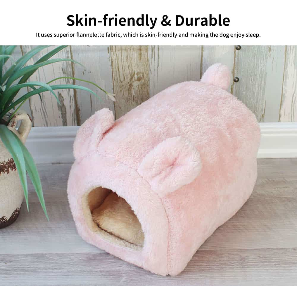 Lovely Semi-enclosed Cat Nest, Superior Flannelette Fabric Pet House with Good Resilience 4