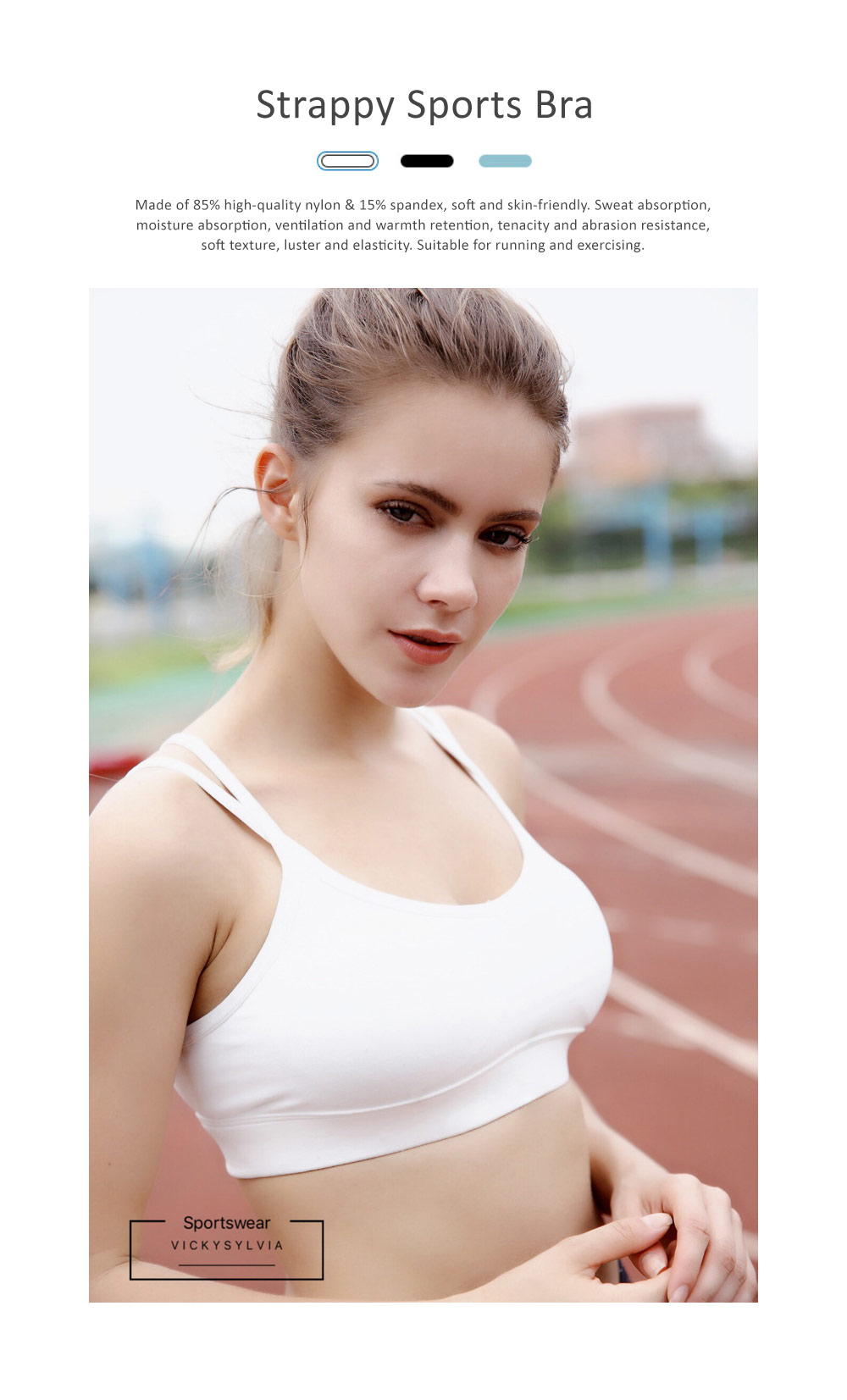 Comfortable Women Vest Sports Bra, Full Figure Sports Underwear, Women's Build-up Racerback Sport Bras with Removable Padded 0