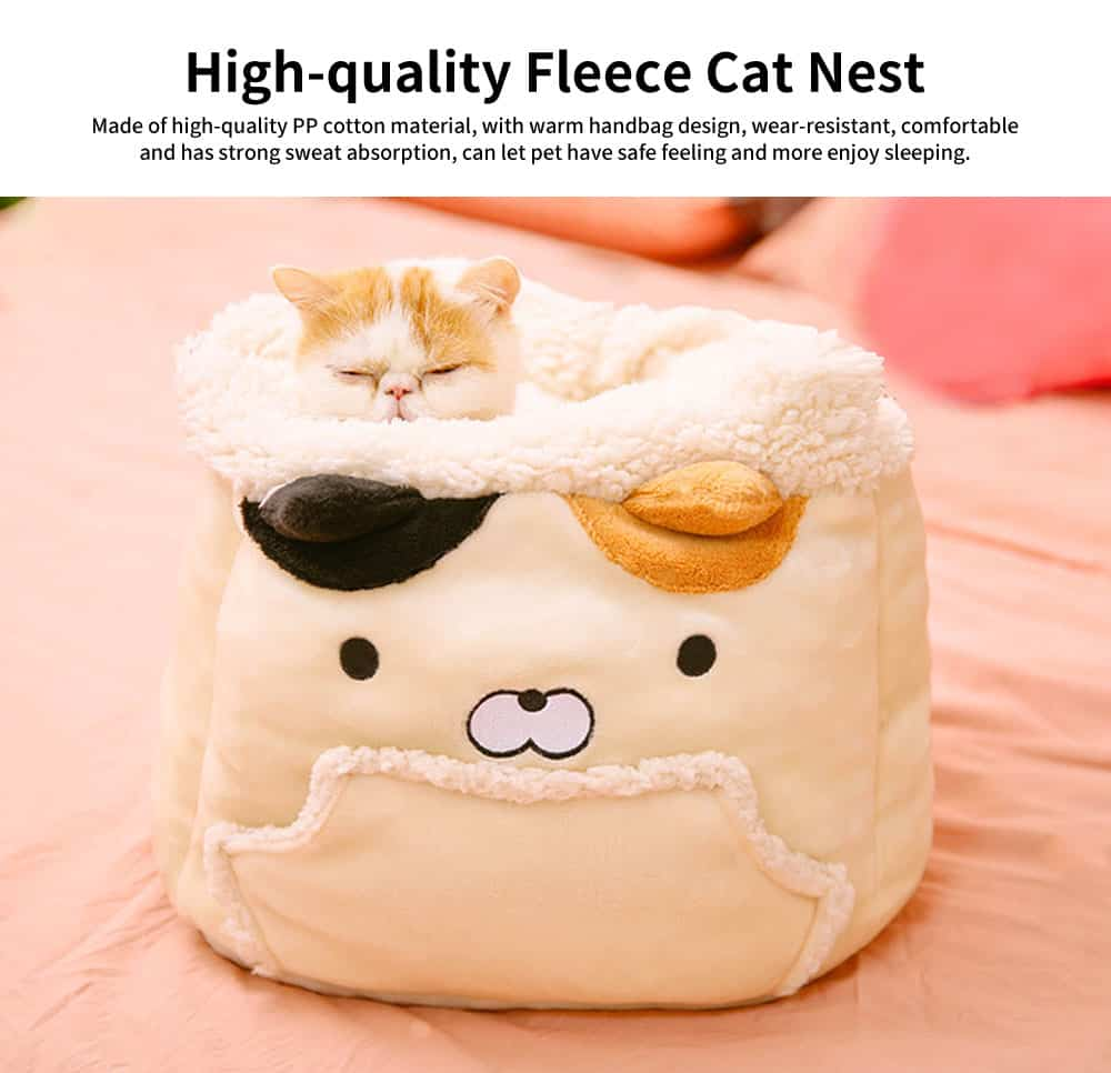 Close Skin Breathe Freely Cotton Cat Nest, Lovely Multifunctional Cat Litter, with Warm Handbag Design 0