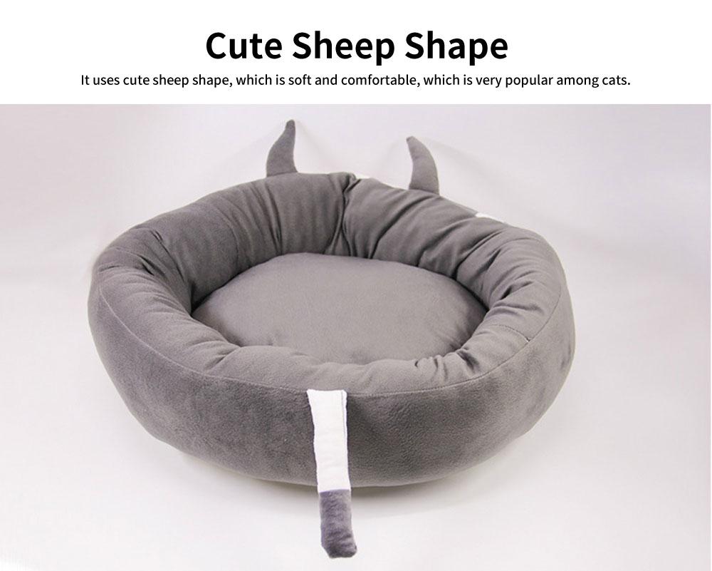 High-elastic PP Cotton Cat Nest, Cute Sheep Shape Pet House, with Dot Grain Design to Have Antiskid Effect 5