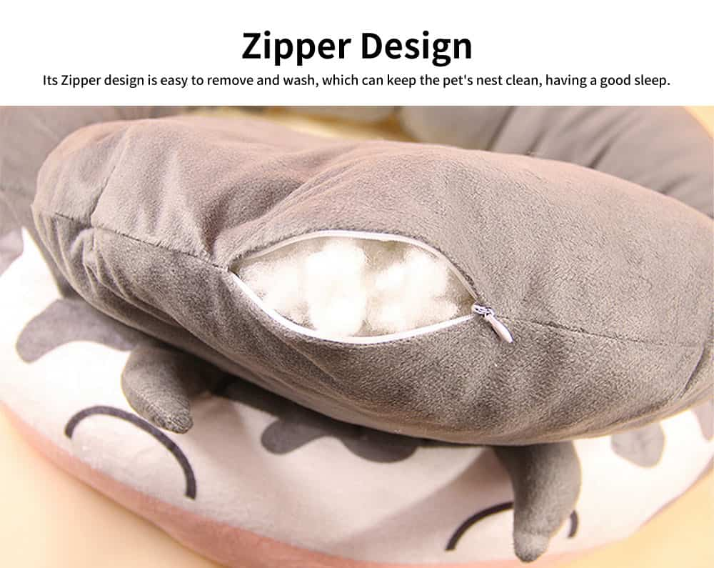 High-elastic PP Cotton Cat Nest, Cute Sheep Shape Pet House, with Dot Grain Design to Have Antiskid Effect 4