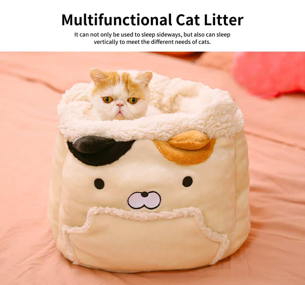 Close Skin Breathe Freely Cotton Cat Nest, Lovely Multifunctional Cat Litter, with Warm Handbag Design 3