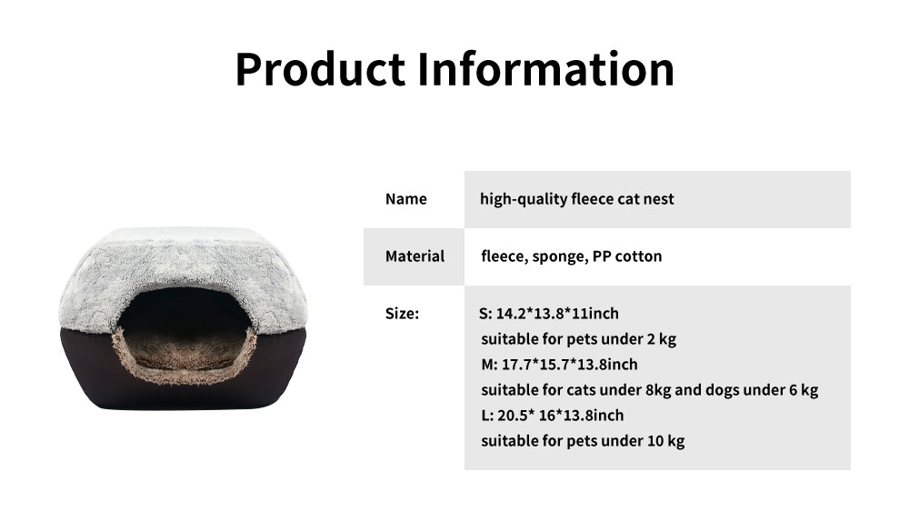 Lovely Stool Shape Pet Nest with Anti-skid Drip Plastic Design, High-quality Fleece & High-density Spong Cat Nest 6